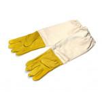 Перчатки из натуральной кожи с нарукавниками